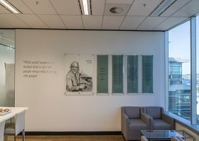 North Sydney Office with Glass Wall Art