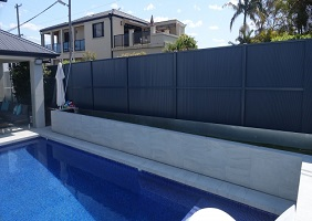 Glass Pool Feature Wall Installation