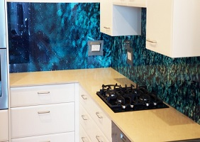 Ocean Printed Kitchen Glass Splashback – Dover Heights
