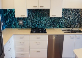 5 Metre Ocean Printed Kitchen Glass Splashback