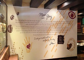 Max Brenner feature wall fitout