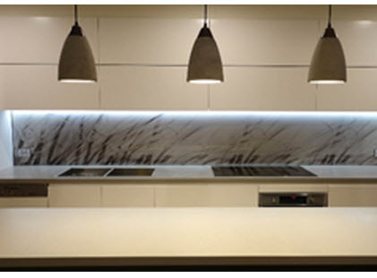 grass blowing in breeze kitchen glass splashback