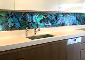 Kitchen Glass Splashback from the Bluethumb Art Collection