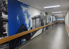 St George Hospital Refurbishment Feature Walls