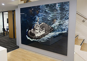 Svitzer Whiteboards and Glass Feature Walls Installation