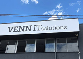 External signage installed at VennIT in Brisbane